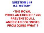 question 15 u s history