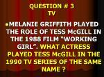 question 3 tv