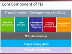 core component of tei