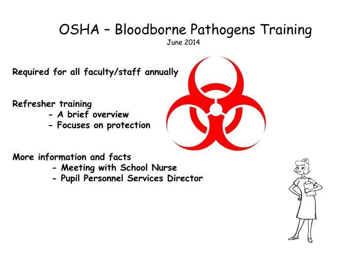 osha bloodborne pathogens training june 2014 n.