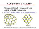 comparison of stability
