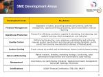 sme development areas