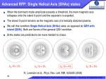 advanced rfp single helical axis shax states