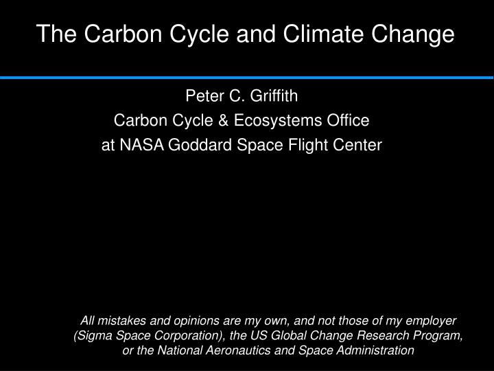 the carbon cycle and climate change n.