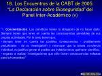 18 los encuentros de la cabt de 2005 la declaraci n sobre bioseguridad del panel inter acad mico v