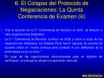 6 el colapso del protocolo de negaciaciones la quinta conferencia de examen iii