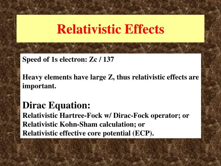 Relativistic Effects