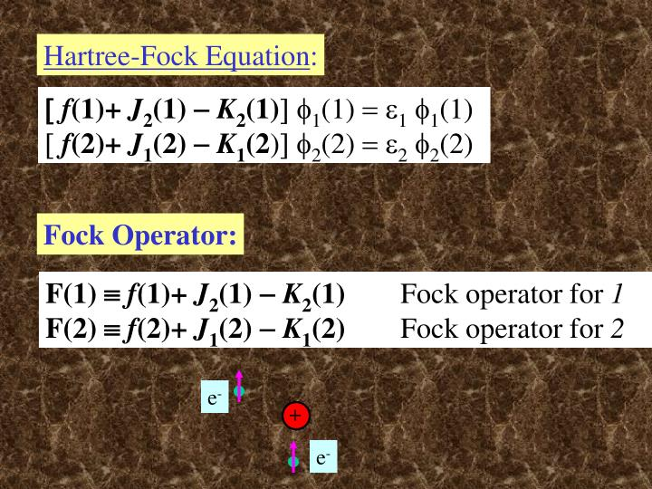 Hartree-Fock Equation