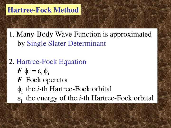 Hartree-Fock Method