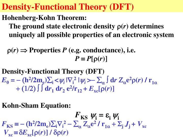 Density-Functional Theory (DFT)