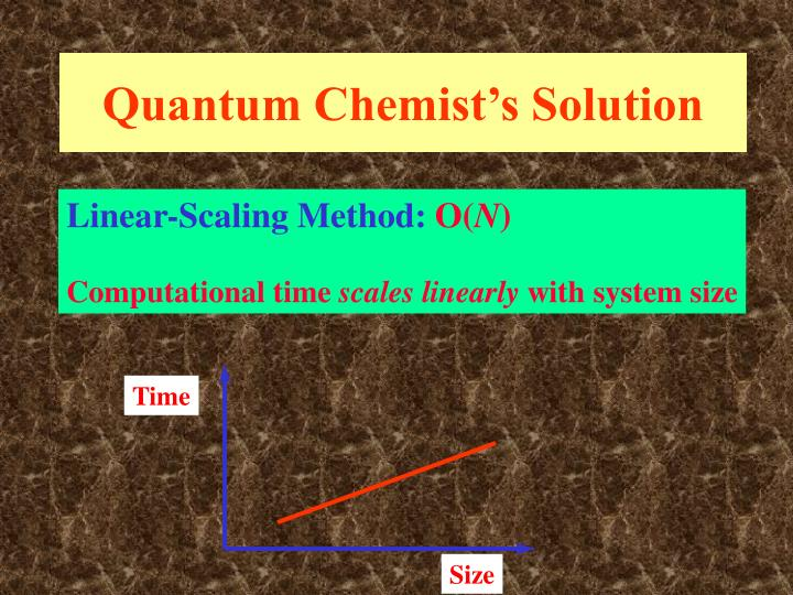 Quantum Chemist's Solution