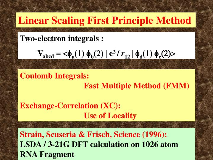 Linear Scaling First Principle Method