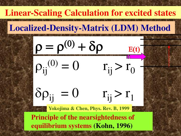 Linear-Scaling Calculation for excited states