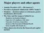 major players and other agents