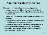 non representativeness risk