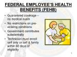 federal employee s health benefits fehb