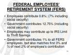 federal employees retirement system fers