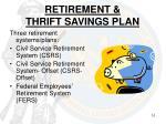 retirement thrift savings plan