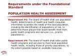 requirements under the foundational standard population health assessment1