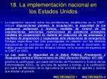 18 la implementaci n nacional en los estados unidos