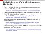 market drivers for atm to mpls interworking standards