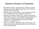absolute indicators of disparities
