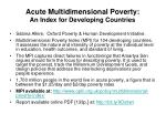 acute multidimensional poverty an index for developing countries