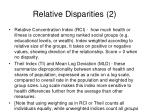 relative disparities 2