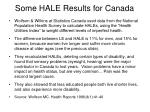 some hale results for canada