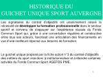 historique du guichet unique sport auvergne