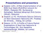 presentations and presenters