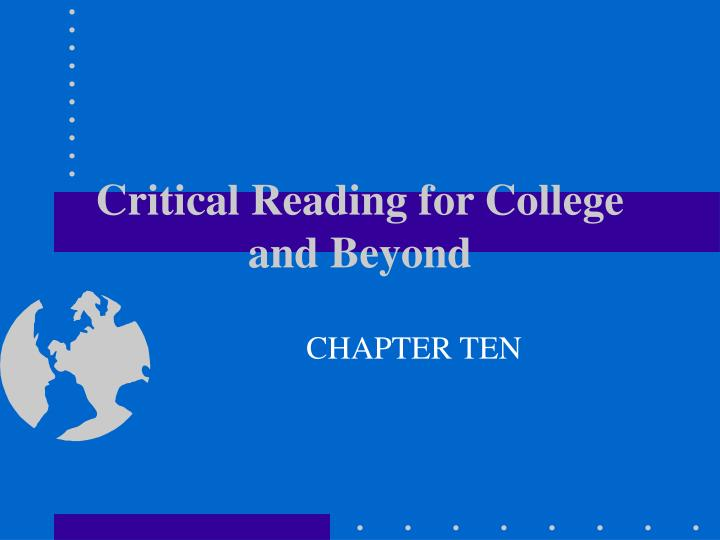 critical reading for college and beyond n.
