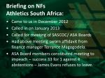 briefing on nfs athletics south africa1