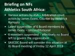 briefing on nfs athletics south africa2