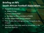 briefing on nfs south african football association