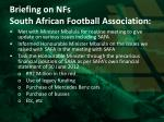 briefing on nfs south african football association1