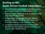 briefing on nfs south african football association2