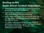 briefing on nfs south african football association3