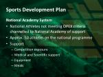 sports development plan