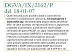 dgva ix 2162 p del 18 01 072