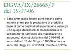 dgva ix 26665 p del 19 07 061