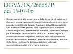 dgva ix 26665 p del 19 07 065