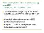 piano di sorveglianza listeria m e salmonella spp anno 2008 dgsan ix 18956 p del 18 12 2007