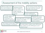 assessment of the mobility actions2