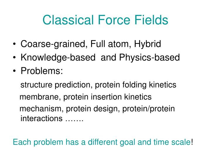 classical force fields n.