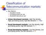 classification of telecommunication markets