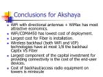 conclusions for akshaya