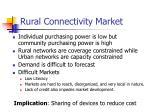 rural connectivity market