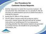 our procedures for customer access requests