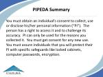 pipeda summary